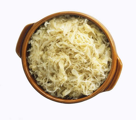 Bowl of kraut, by Diana Zahuranec for The Rambling Epicure, editor Jonell Galloway.